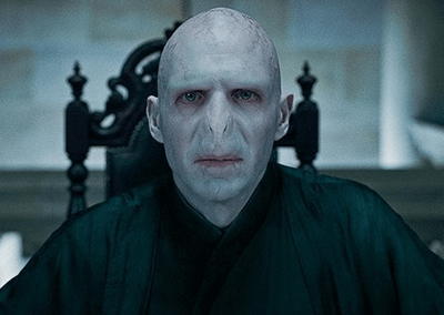 Lord Voldemort, the main bad guy of the Harry Potter books.