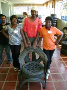 Brazilian nonprofit makes furniture from scrap tires