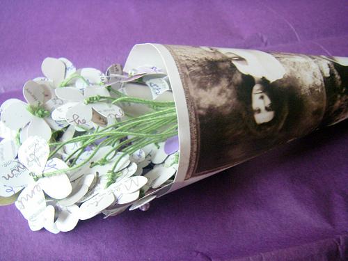 PJ Harvey upcycled album bouquet via scribblenation on Flickr