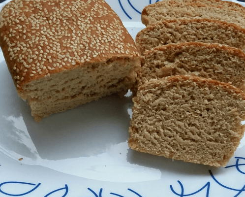 Sliced Brown Bread Baked at Home