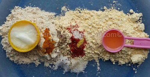 Ingredients to make Gatte