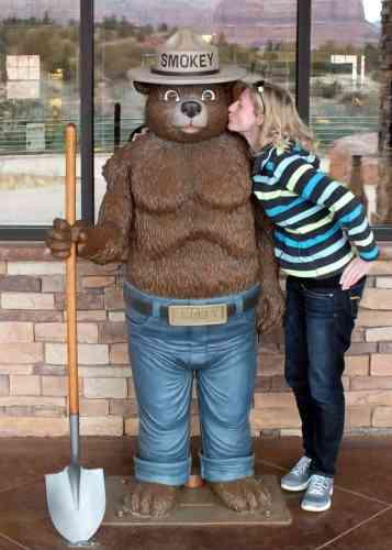 Smokey the Bear in Sedona, AZ