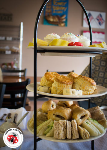 English afternoon tea at the Clock Tower Bakery