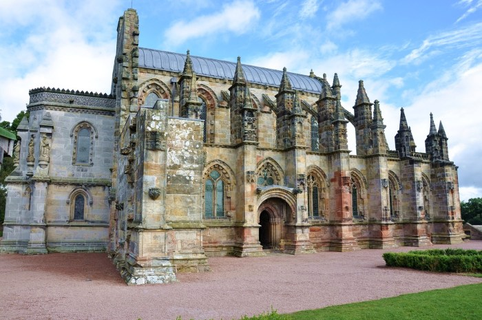 Visitors flocked to the Rosslyn Chapel after Dan Brown's The Da Vinci Code was published