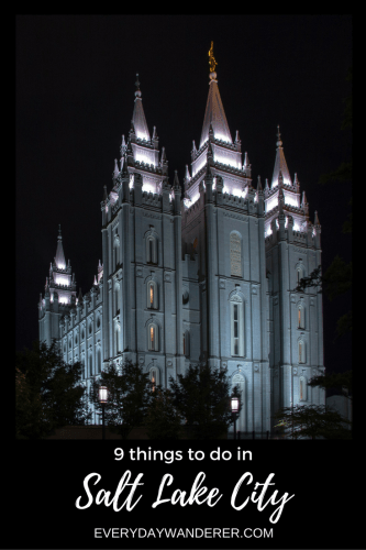 Visit Temple Square and eight other things to do when you visit Salt Lake City, Utah #slc #saltlakecity #utah #temple #templesquare