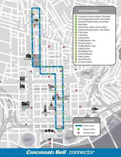 Cincinnati streetcar map