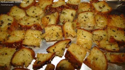 Make Croutons to use up stale bread