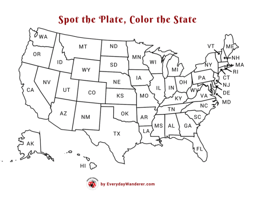Spot the Plate, Color the State - License Plate Bingo ... State License Plate Map Usa on basketball usa map, state usa map, color usa map, driving usa map, art usa map, paint usa map, time usa map, list 50 states and capitals map, license plate world map, license plate map art, reverse usa map, license plates for each state, motorcycle usa map, flag usa map, decals usa map, golf usa map, baseball usa map, map usa map, leapfrog interactive united states map, watercolor usa map,
