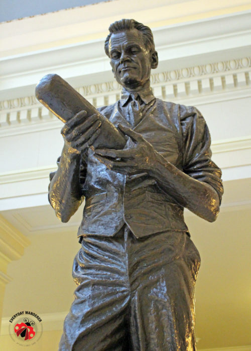 Philo Farnsworth's statue stands in the Utah State Capitol