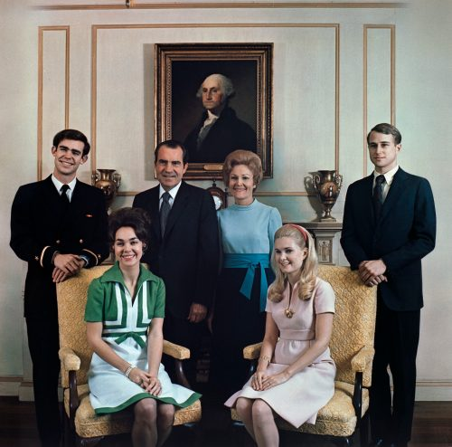 The Nixon Family in 1972 - Photo Courtesy of the Nixon Library and Museum