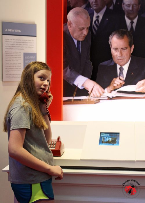 One of the audio experiences at the Nixon Library and Museum in Yorba Linda, California