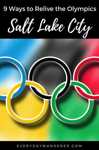 Nine fun ways to relive the 2002 Winter Olympics in Salt Lake City, Utah #utah #visitslc #saltlakecity #saltlake #winterolympics #olympics
