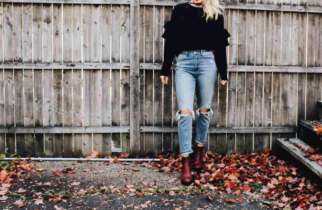 Ruffled Sweaters & Mom Jeans