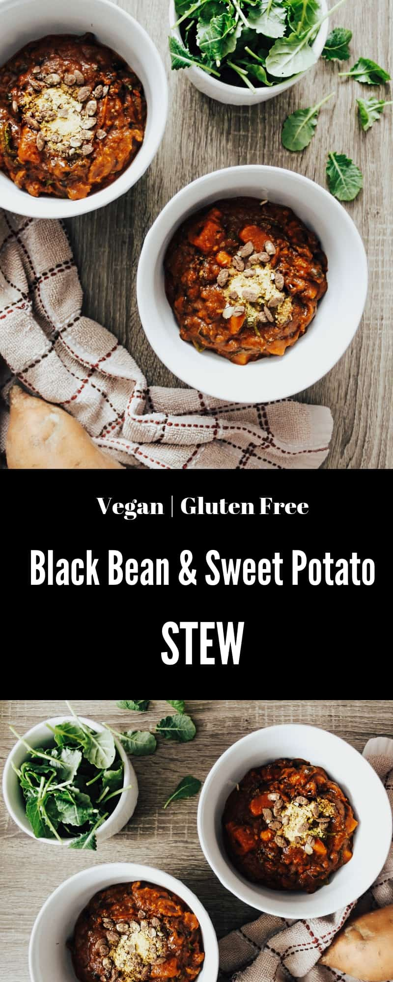 Not only is this Black Bean & Sweet Potato Stew, gluten free, dairy free, vegan, & extremely warming, but it also is anti-inflammatory, due to the turmeric!