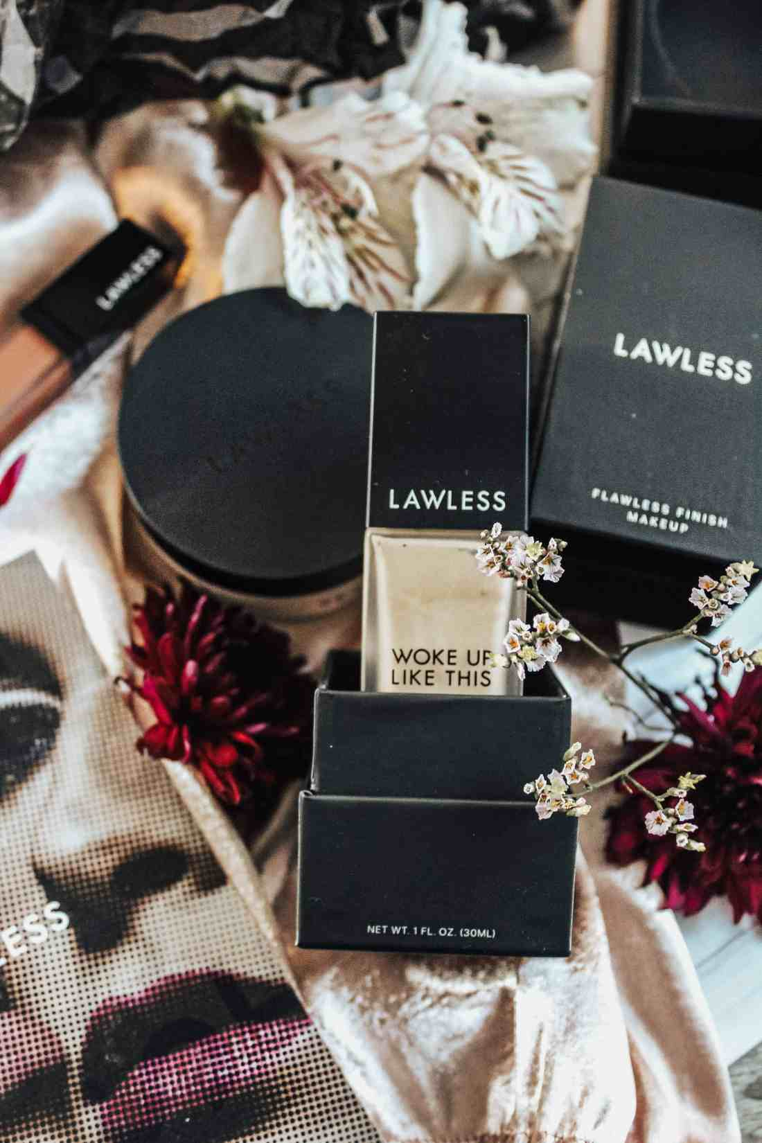 """Lawless Beauty... a clean beauty brand that doesn't sacrifice quality. Reviewing """"Woke Up Like This"""" foundation & """"Seal the Deal"""" talc-free setting powder."""