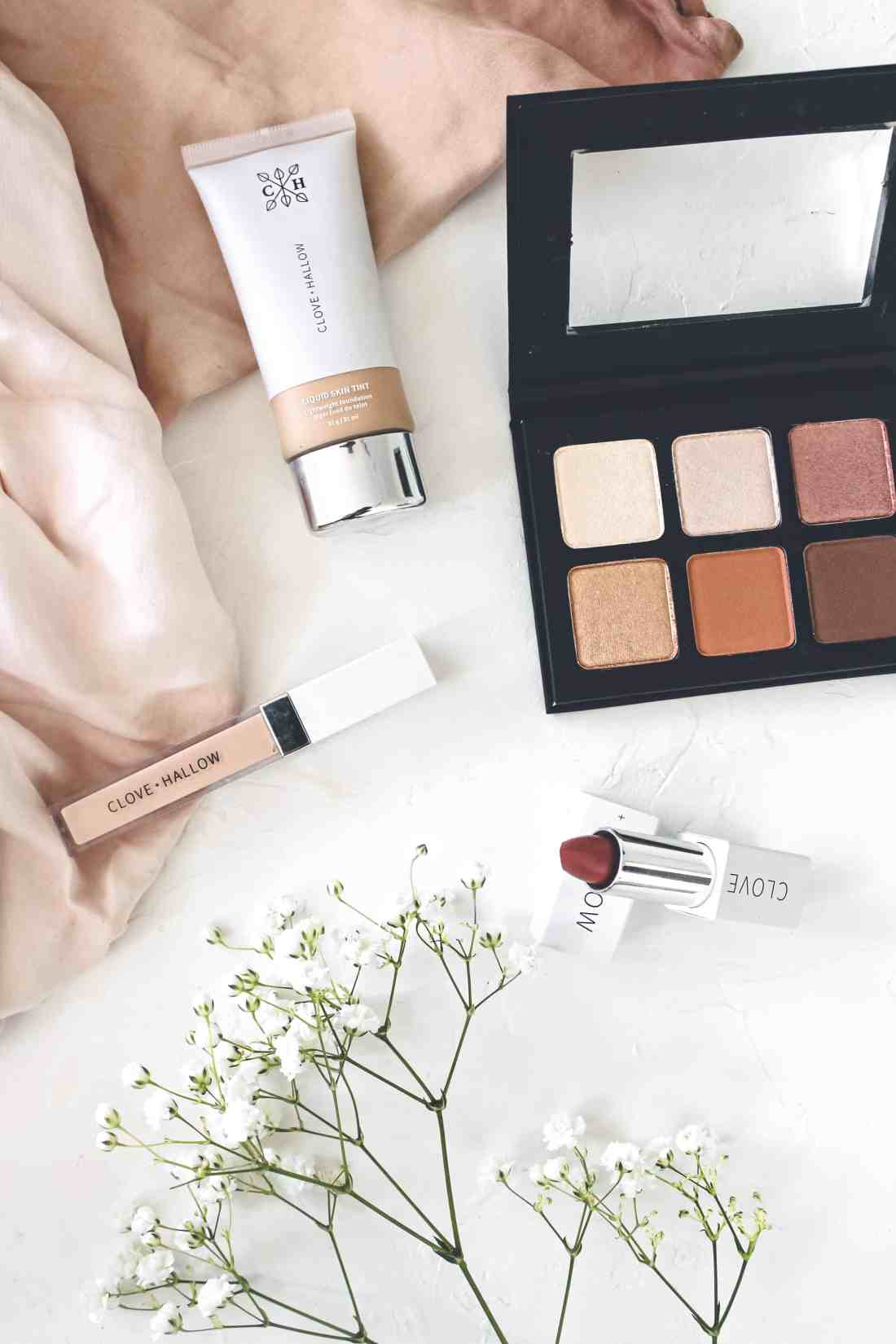 CLOVE + HALLOW clean beauty brand makeup review. Reviewing their Liquid Skin Tint foundation, the Conceal + Correct liquid concealer & more!