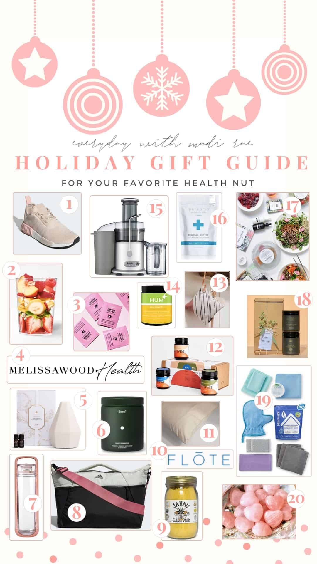 Welcome to my 2019 Holiday Gift Guide for your Favorite Health Nut! Including 20 health & wellness items that are sure to impress at any price point!