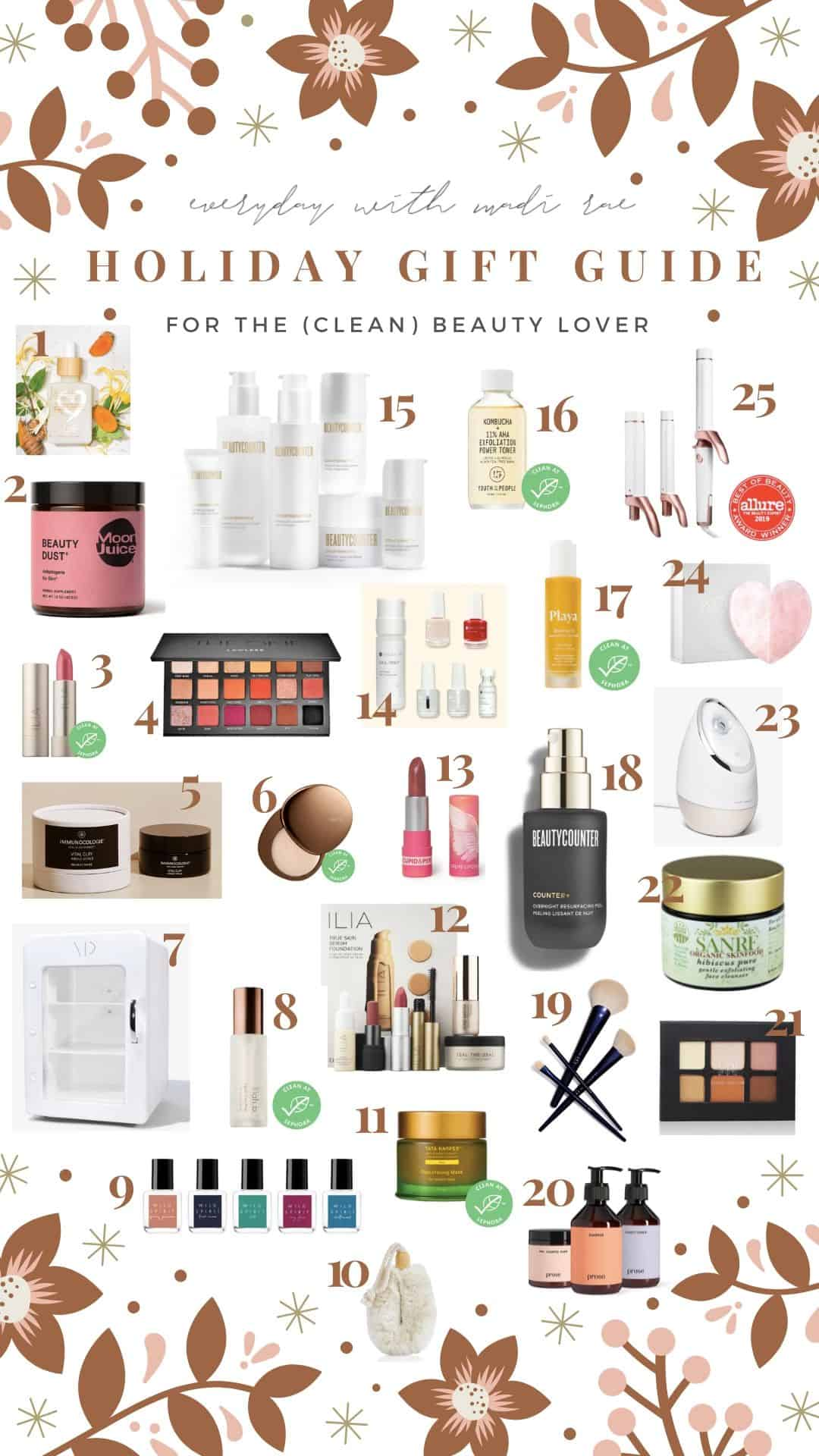 This 2019 Holiday Gift Guide for any clean beauty lover includes amazing & safe skincare, gorgeous makeup products, clean fragrances, hair care & more!