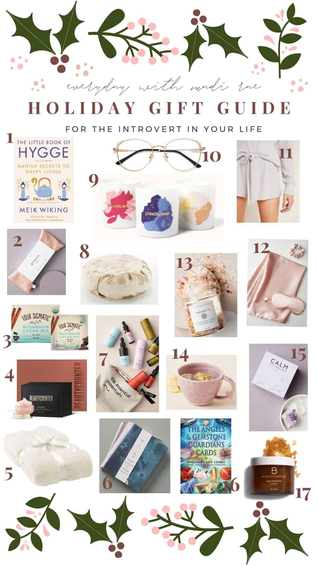 2019 Holiday Gift Guide For The Introvert In Your Life - which includes 17 items, all perfect for a cozy night in, some major self care & relaxation!