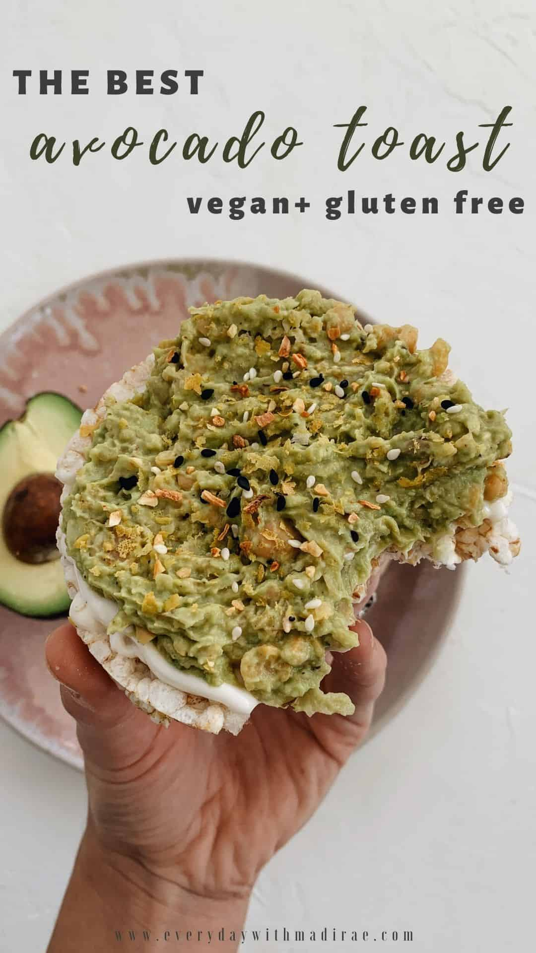 Sharing my go-to avocado toast recipe for the tastiest, nutrient-packed, vegan, & gluten free breakfast, lunch, or healthy snack option!