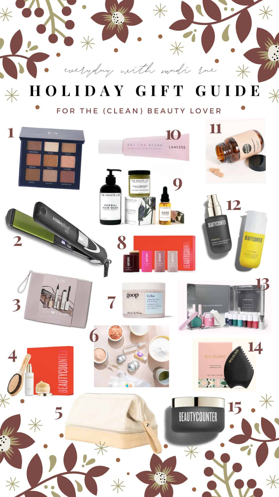 This 2020 Clean Beauty Gift Guide includes amazing, clean skincare, gorgeous makeup, effective deodorant, hair care, & more!