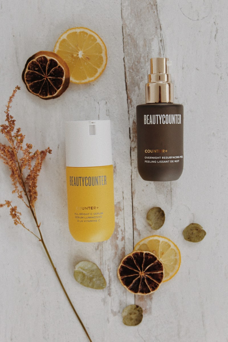 Beautycounter's All Bright C Serum review & the benefits of using this 10% blend of vitamin C for brighter skin & antioxidant protection!