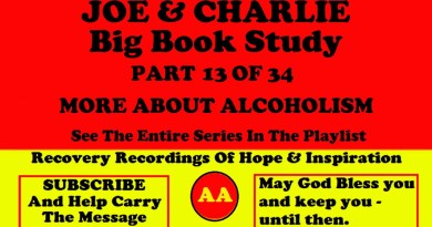 AA Speakers Joe McQ. and Charlie P. - Their Famous Alcoholics Anonymous Big Book Study #13 of 34