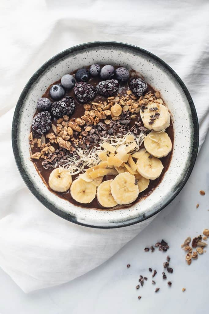 Chocolate Avocado Smoothie Bowl, zero sugar, zero guilt and all that amazing creamy flavor