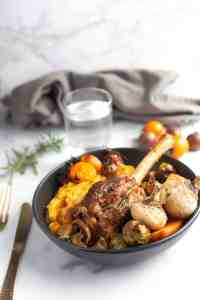 Slow Cooked Lamb Shank with Roasted Root Vegetables