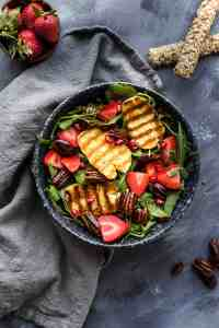 Strawberry Halloumi Salad
