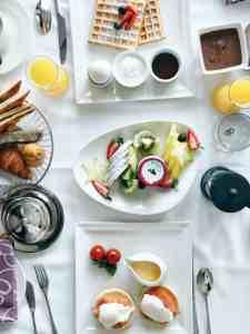 in room breakfast spread sofitel abu dhabi