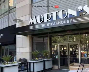 Menu Prices of Morton's Steakhouse [2021 Updated]