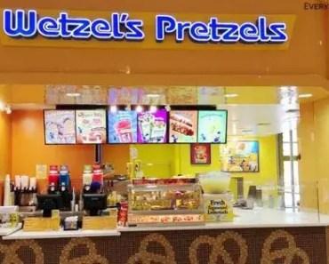 Wetzel Pretzel Menu Prices [Latest 2021 Updated]