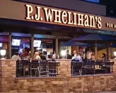 P.J. Whelihan's Menu Prices [Latest 2021 Updated]