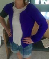 Purple cardi sleeve 2