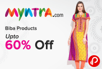 Myntra Offer : Get upto 60% off on Girls Clothing