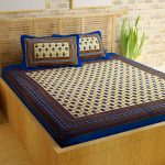 Amazon India : Story@Home Pearl Rajasthani Jaipuri Collection Cotton Double Bedsheet (Blue) at Rs.549