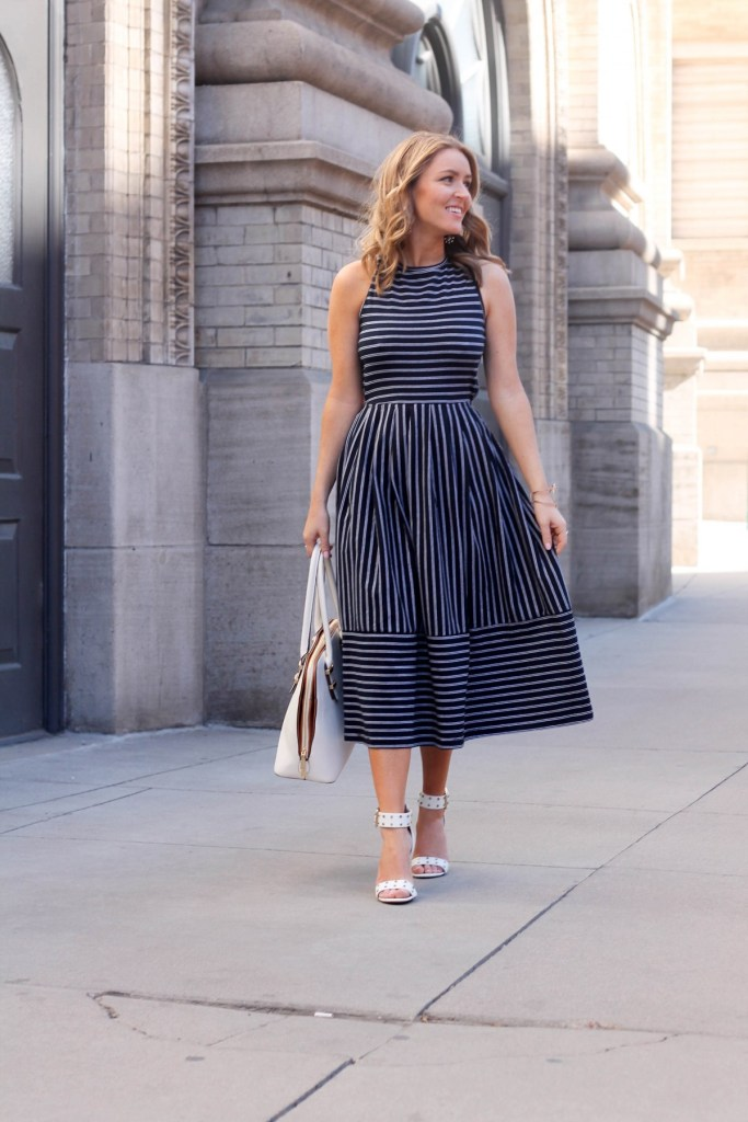 stripped skater dress
