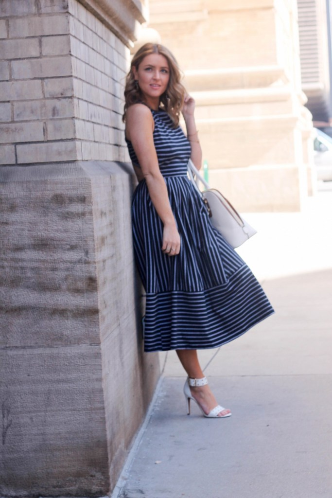stripped skater dress 2016