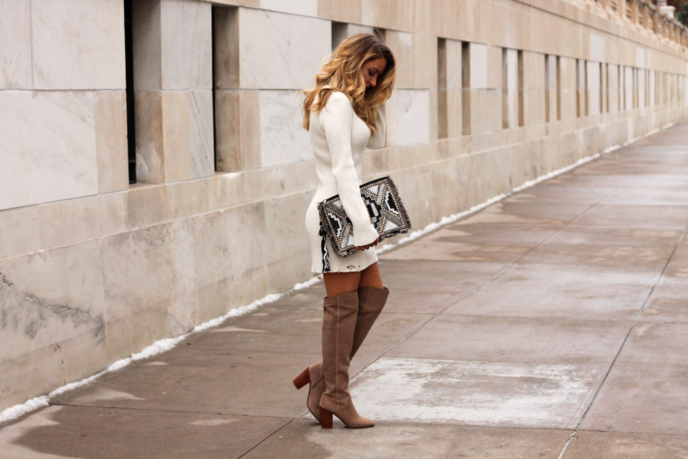 amber from every in a style wearing over the knee franco sarto boots