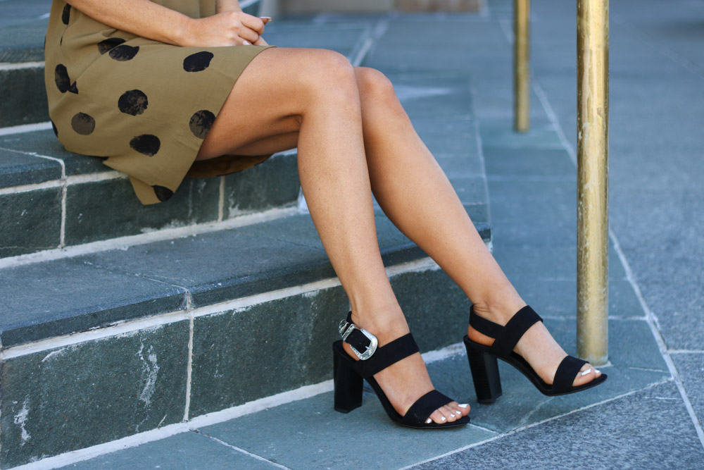 Amber from Every Once in a Style Black Heels