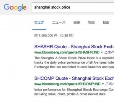 shanghai stock price - Google 検索 -