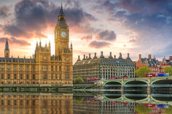 Big Ben and the Palace of Westminster in London, UK
