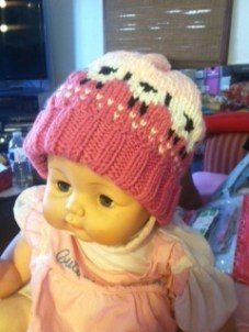 baby pink hat