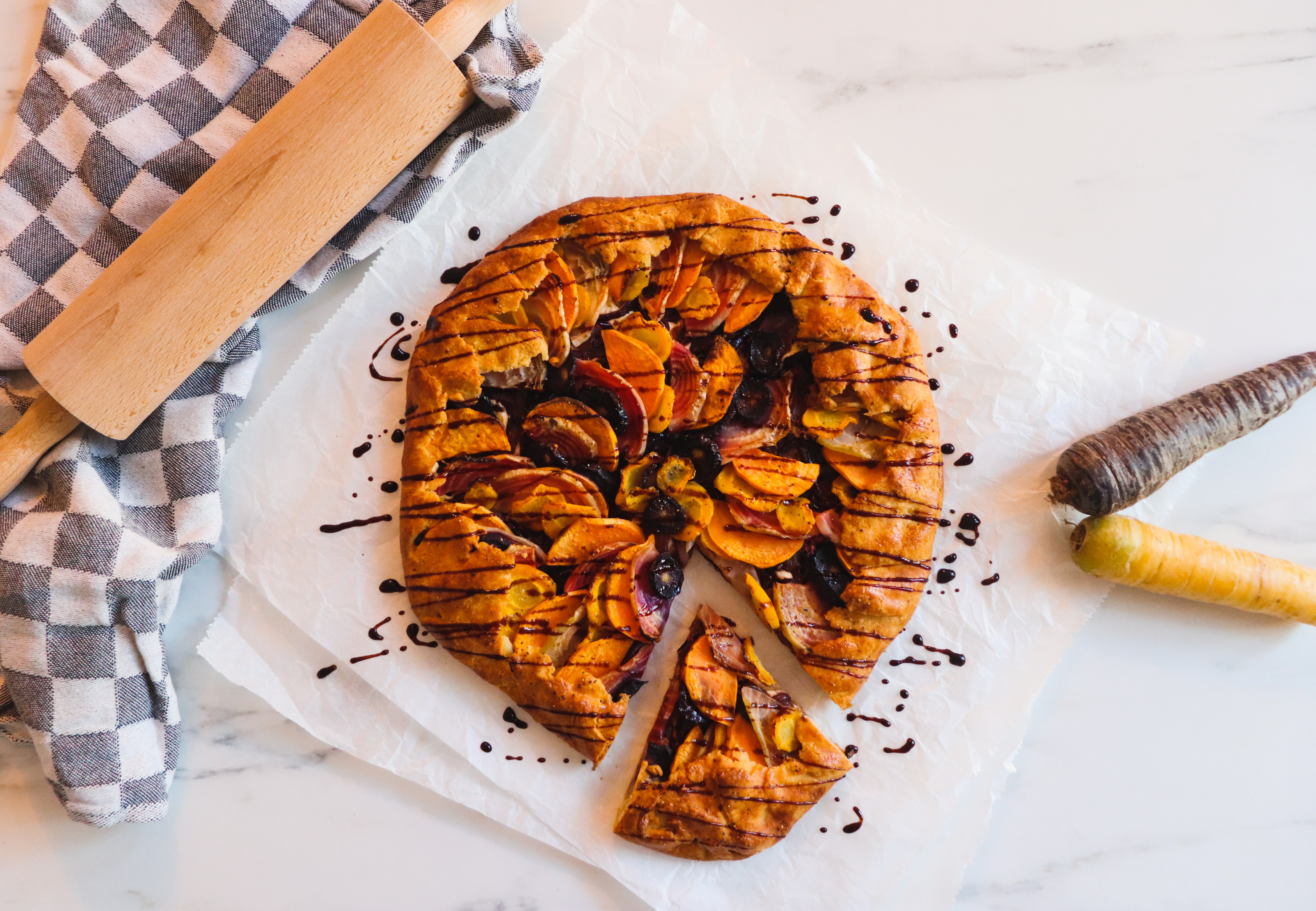 Root Vegetable & Goat Cheese Galette