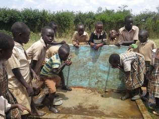 water finally comes to our school in Kampi Ya Moto!