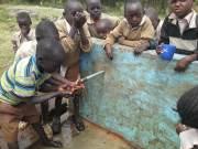 water at the Lord Ranjuera Primary School in Kampi Ya Moto