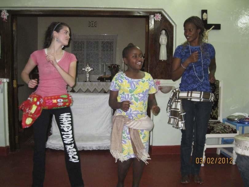 Helen & Jackie teach Autumn how to dance