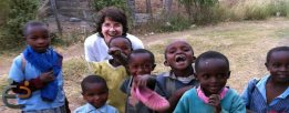 Executive Director Ruth Young just hanging out with the kids in Lanet