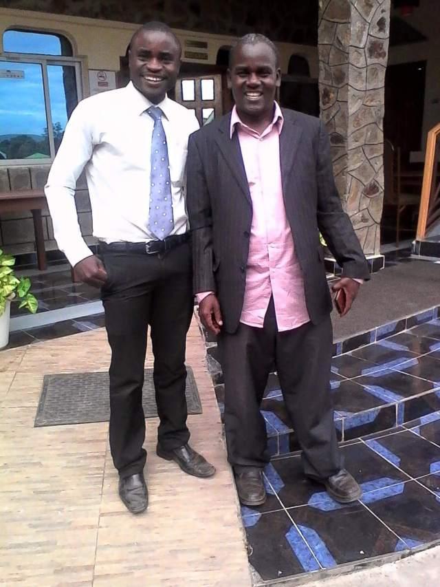 Simon Wanjala and William Aludo - dressed to educate!